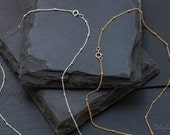 Dainty Beaded Satellite Chain - Dew Drop Layering Necklace - Boho Chic Jewelry - Minimalist Necklace - Gold Beaded Chain