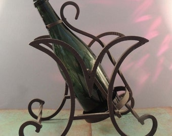 French Wine Caddy / Iron Wine Caddy / Vintage Wine Caddy / Iron Wine Caddy / Tilting Wine Caddy / Wine Holder / Table Top Wine Holder