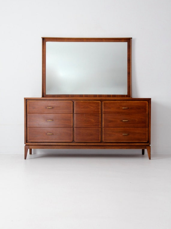 Kent Coffey Simplex Ii Dresser With Mirror Mid Century