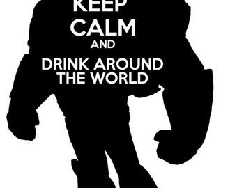 Drink Around the World- Tshirt design Buzz Lightyear