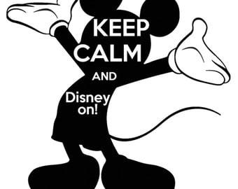 Mickey- Keep Calm and Disney on tshirt design