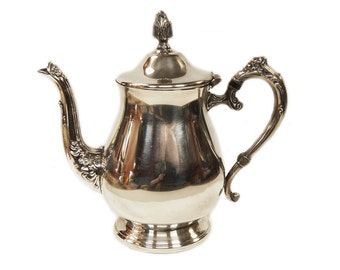 Silver Plated Tea Pot Coffee Pot c.1950s English Silver Plate