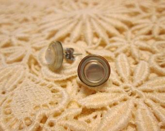 Vintage Petite Button Post Earrings