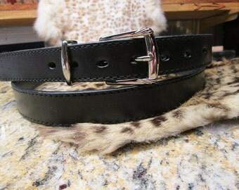 "Handmade black belt , extra long leather belt , custom belt , big and tall belts , extra long belt , 65"" belt , dress belt"