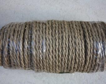 6 mm Jute Cord Natural = 65 Yards = 60 Meters - Wilde treasure - Jute Cord - Jute Macrame
