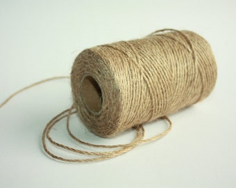 2 mm Jute Cord Natural - 1 spool = 110 yards = 100 meters