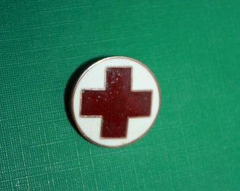 Rare Vintage Pin - Red Cross - Red & White Enamel Pin - CCCP USSR Soviet Union Russian Vintage Pin - Badge Donor Donate Gift - Medal