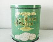 antique wafer tin