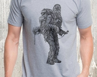Men's Wandering Wookie T-Shirt - Men's Screen Printed T-Shirt - American Apparel