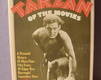 Vintage 1960's Tarzan of the Movies book by Gabe Essoe, 1968, Antique photographs, 1910's silent movies, Comic book Super hero,