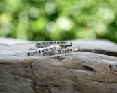 Skinny Name Stacking Ring in Sterling Silver. Personalized. Made To Order. Mommy ring, Mom jewelry, mother's ring. Kids names.