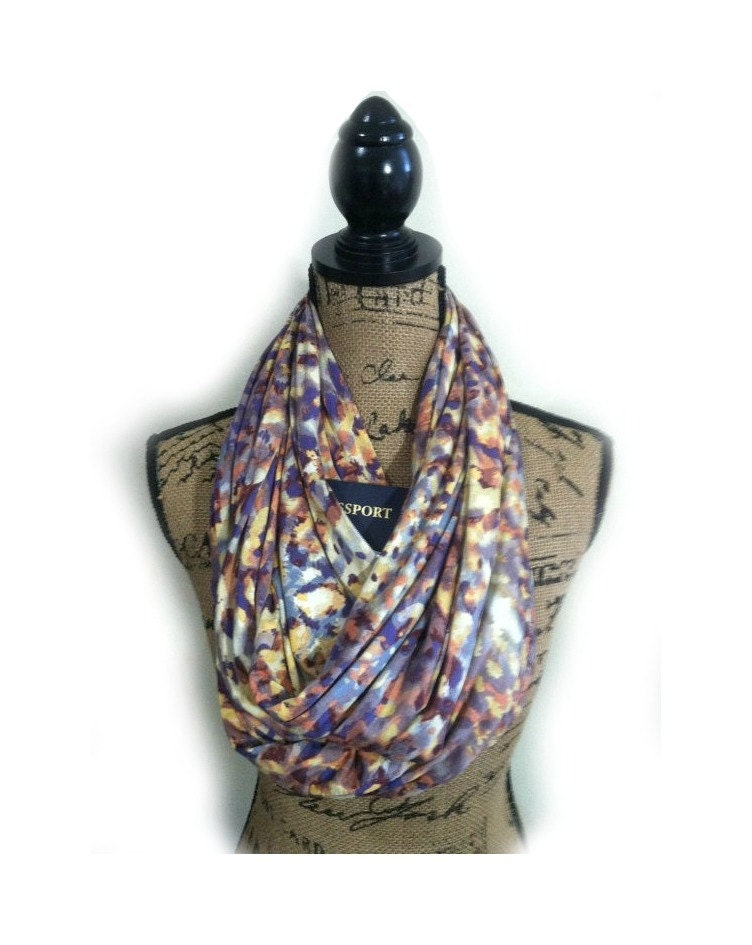 Travel infinity scarf with pocket extra wide infinity scarf for Travel scarf