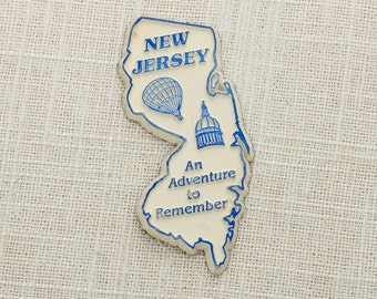 """New Jersey Vintage State Magnet 