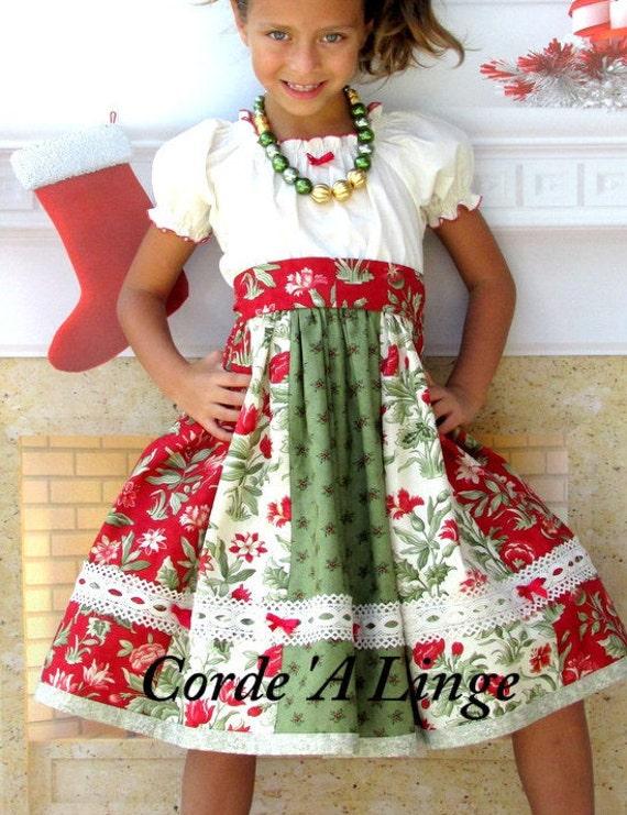 Girls christmas dress mistletoe size