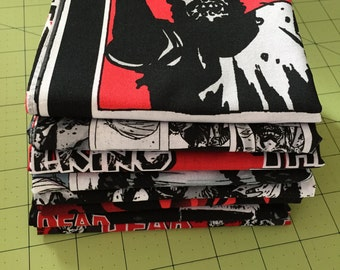 Walking Dead Fabric - 10 Fat Quarter bundle