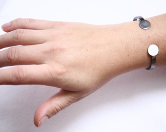Minimalist Cuff Bracelet, Sterling Silver Cuff Bracelet, Silver Cuff, Silver Bracelet, Simple Cuff