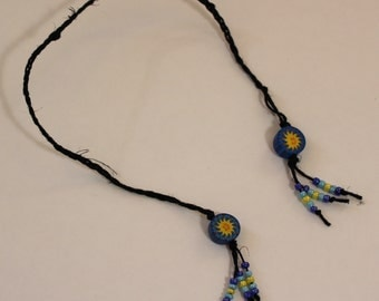 Braided Hemp Bookmark - Two Suns