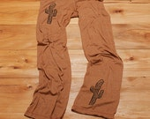 desert girl Cactus Pants, Yoga Pants, Lounge Pants, Pajama Pants, Camping Sweats, S,M,L,XL