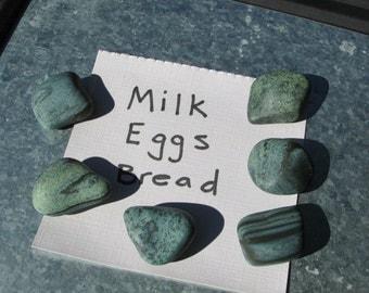 Green Blue Beach Stone MAGNETS Lake Erie Stones