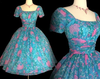 Vintage 1950s Dress//Jonathan Logan//50s Dress//New Look//Rockabilly//Femme Fatale//Party Dress