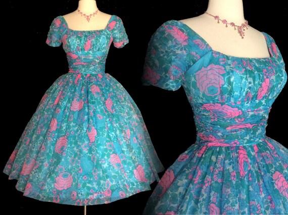 Vintage 1950s Dress//Jonathan Logan//50s Dress//New Look//Rockabilly//Femme Fatale//Party Dress