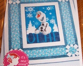 Quilt Pattern, Happy Snowman, Olaf, Its Sew Emma, Busy Hands Quilts