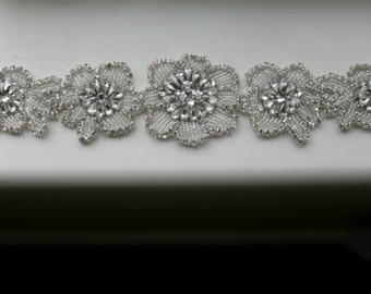 Wedding dress belt, Floral Bridal Belt, Wedding Accessories, wedding dress sash, wedding Belt, bridal, rhinestone jewelry