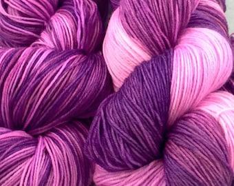 PURPLE IS A FRUIT superwash merino sock yarn