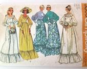 1970s Wedding Dress & Bridesmaid Dress Pattern Simplicity 5569 Womens Formal Bridal Maxi Dress Sewing Pattern Modest Size 12 Bust 34
