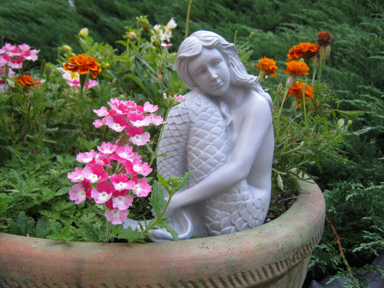 Mermaid Statue Concrete Mermaid Statues Statues Cast In