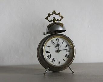 Large Antique Alarm Clock Industrial Loft Deco Bell Alarm
