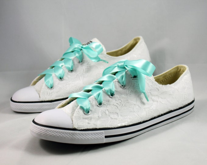 Featured listing image: Bridal Converses --Lace Converse -- Wedding Tennis shoes  - Wedding Converse