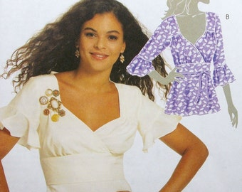 McCall's Pattern M5809 Misses' Tops and Belt Sizes 4-12 NEW