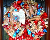 Rustic Love Valentines Wreath