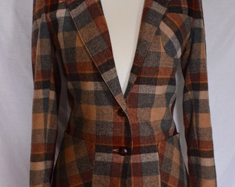 1970s Plaid Blazer