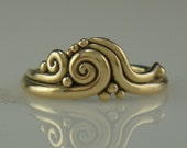 R989- 14ky Swirl Ring- One of a Kind