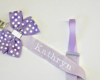 Monogram Pacifier Holder Baby Boy or Girl Personalized Soothie Clip Nook Paci Baby shower gift