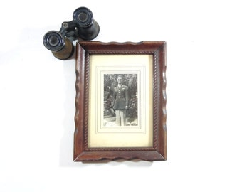 Vintage WWII Photograph, Framed WWII Military Photo