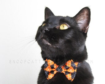 SALE!  Cat Bow Tie - The Purrrfessor - Halloween Cat Accessory