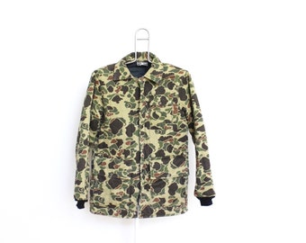 Vintage Redhead Camouflage Jacket Mens Large Camo Hunting Duck Fatigues Camoflauge Medium Weight Lined