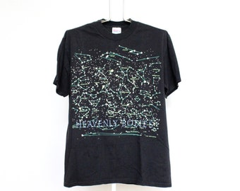 Vintage Constellations T Shirt Mens Large Unisex Womens Stars Heavenly Bodies Astrology Night Sky Outer Space Nasa Glow In Dark