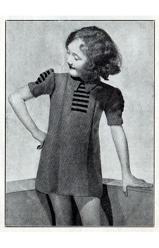 1930s Vintage Knitting Patterns for Children by BessieAndMaive