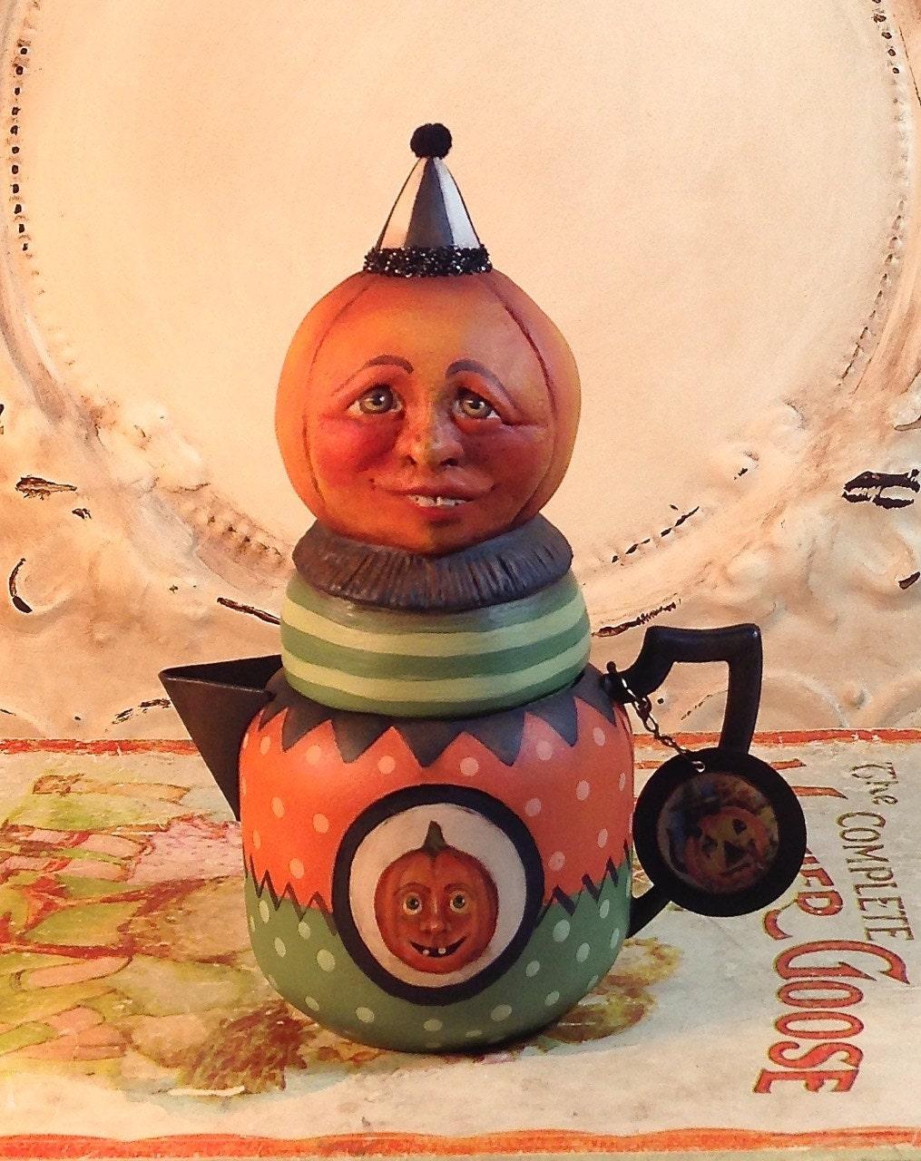 Folk Art Halloween Pumpkin vintage style candy by ...