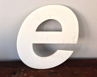 E - Reclaimed metal letter