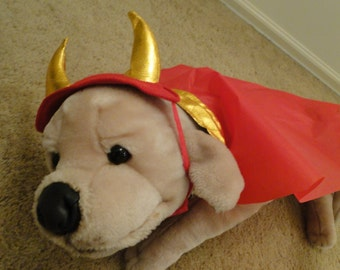Halloween Medium dog dress up Devil Satan costume pet parade READY to ship