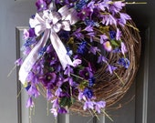 Rustic Wreath, Spring Wreath, Summer Wreath, Grapevine Wreath,  Mother's Day Gift