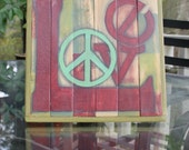 Distressed handpainted Love Sign
