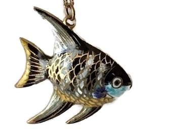 Cloisonné Fish Pendant