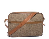 Small Tweed Hartmann Travel Bag Soft Train Case Weekender Overnight Bag