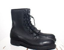 6 R | Cove Shoe Co. Steel Toe Work Boots Combat Boots